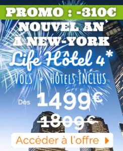 sejour nouvel an New York